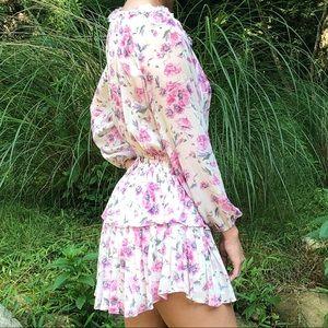 LoveShackFancy Popover Dress in Trellis Cream